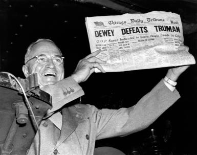 Dewey Defeats Truman Newspaper